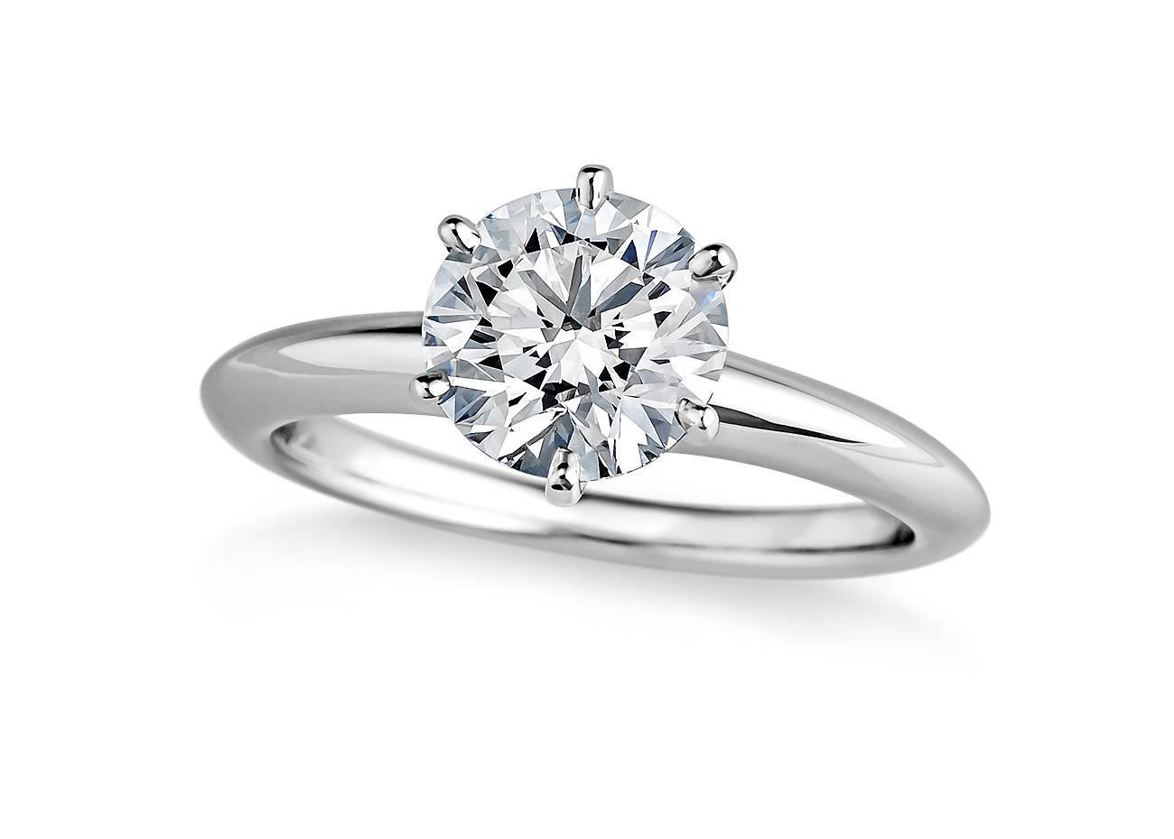tiffany and co carat diamond platinum engagement ring for sale at 1stdibs. Black Bedroom Furniture Sets. Home Design Ideas