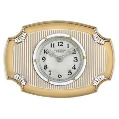 1925 Cartier Paris Enamel Diamond Gold Art Deco Clock