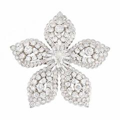 Superb Diamond Brooch/Pendant by Van Cleef & Arpels