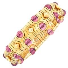 Bulgari Tourmaline Gold Bracelet