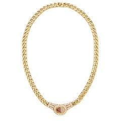 Bulgari Intaglio and Diamond Necklace