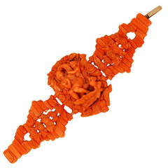 Extraordinary 18th Century Southern Italian Coral Bracelet