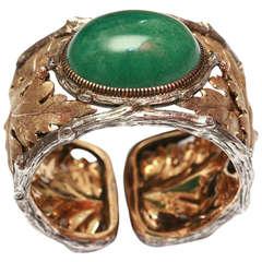 Buccellati An Aventurine Gold Bracelet