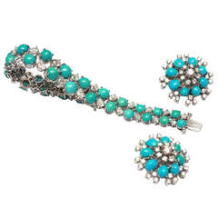 Turquoise Diamond Parure by Faraone