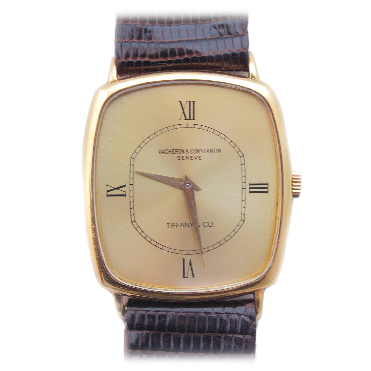 Vacheron & Constantin Yellow Gold Cusion Wristwatch Retailed by Tiffany & Co