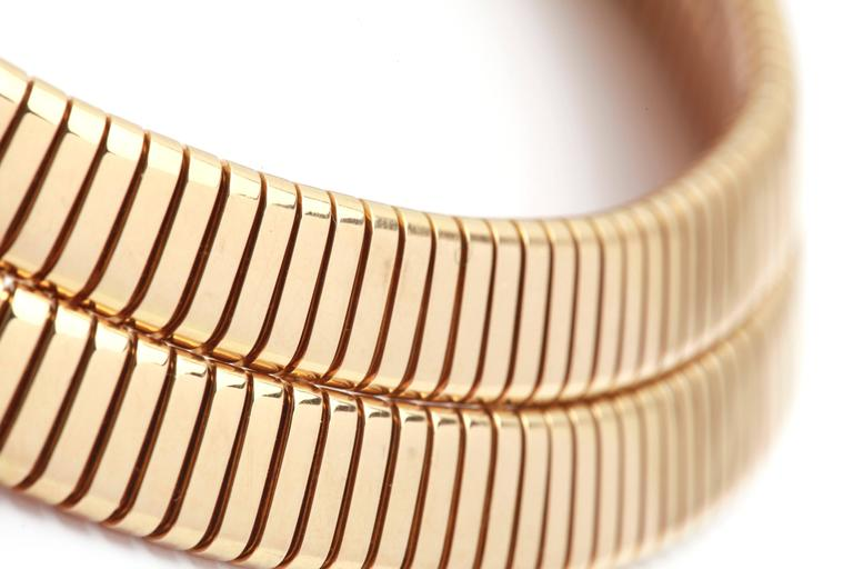 An Iconic Double Tubogas Necklace by Bulgari. 18kt Yellow Gold, circa 1970.