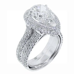 5 Carat Pear Shape Diamond Ring