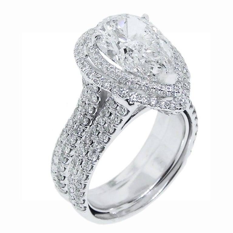 5 Carat Pear Shape Diamond Ring
