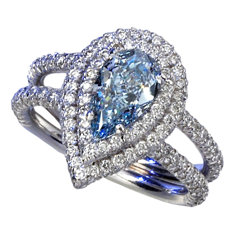 Blue Diamond Ring For Sale At 1stdibs