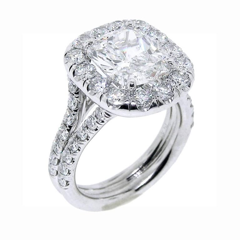Carat Cushion Cut Diamond Ring For Sale