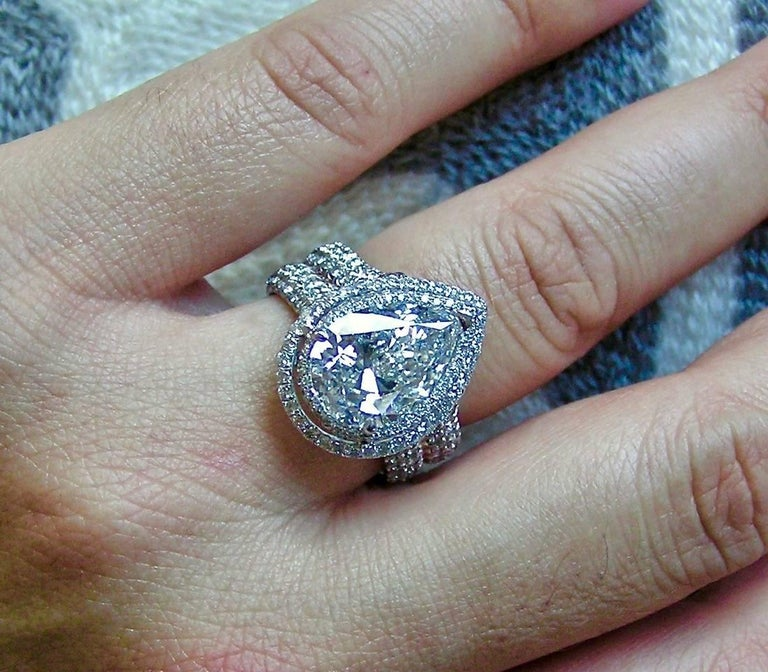 5 Carat Pear Shape Diamond Ring For Sale At 1stdibs
