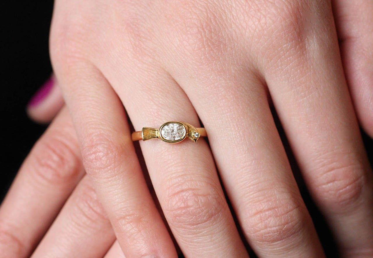 Diamond Gold Bird Ring at 1stdibs