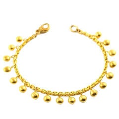 Gold Bead and Chain Bracelet