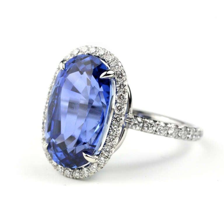 Julius Cohen Sapphire and Diamond Ring 2