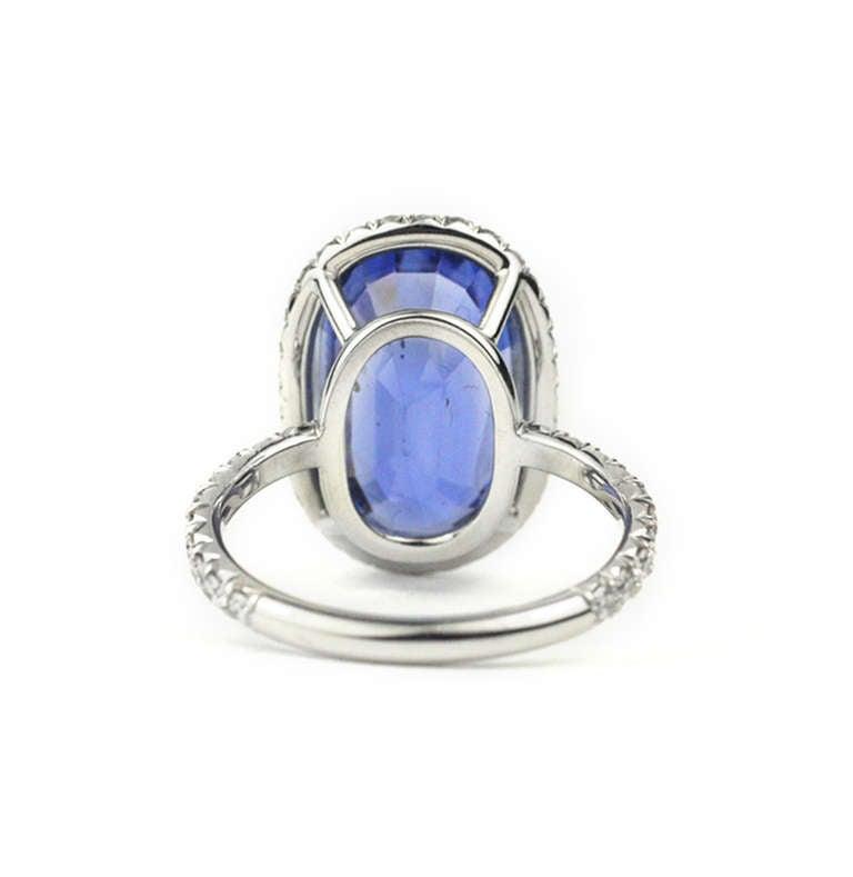 Julius Cohen Sapphire and Diamond Ring 4
