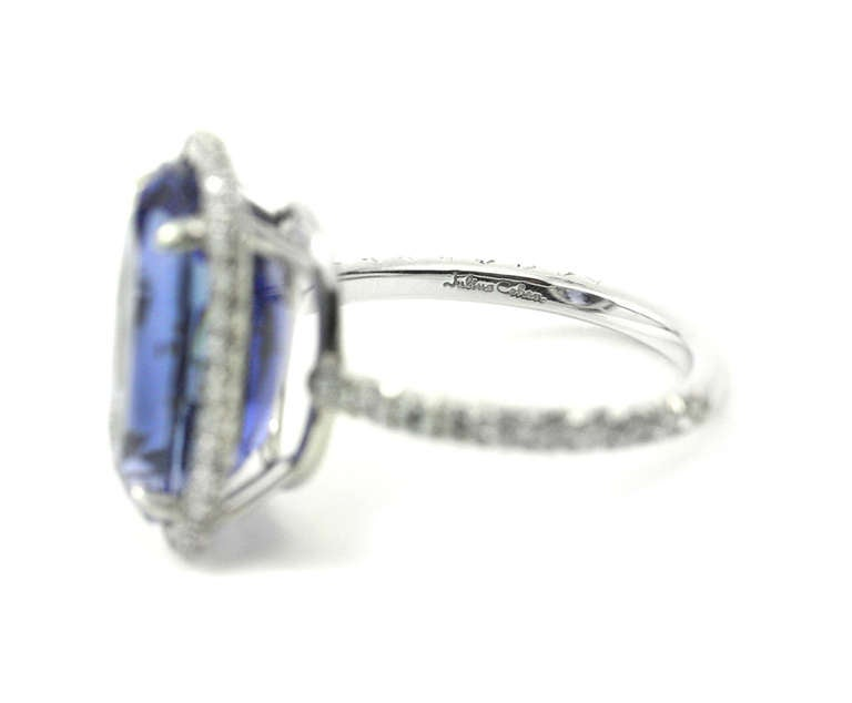 Julius Cohen Sapphire and Diamond Ring 6