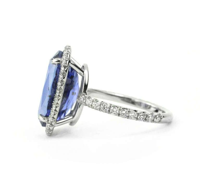 Julius Cohen Sapphire and Diamond Ring 5