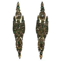 Antique Iberian Emerald Earrings