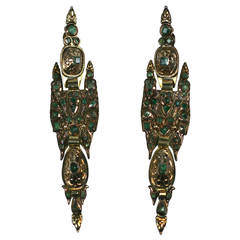 Antique Iberian Emerald Earrings