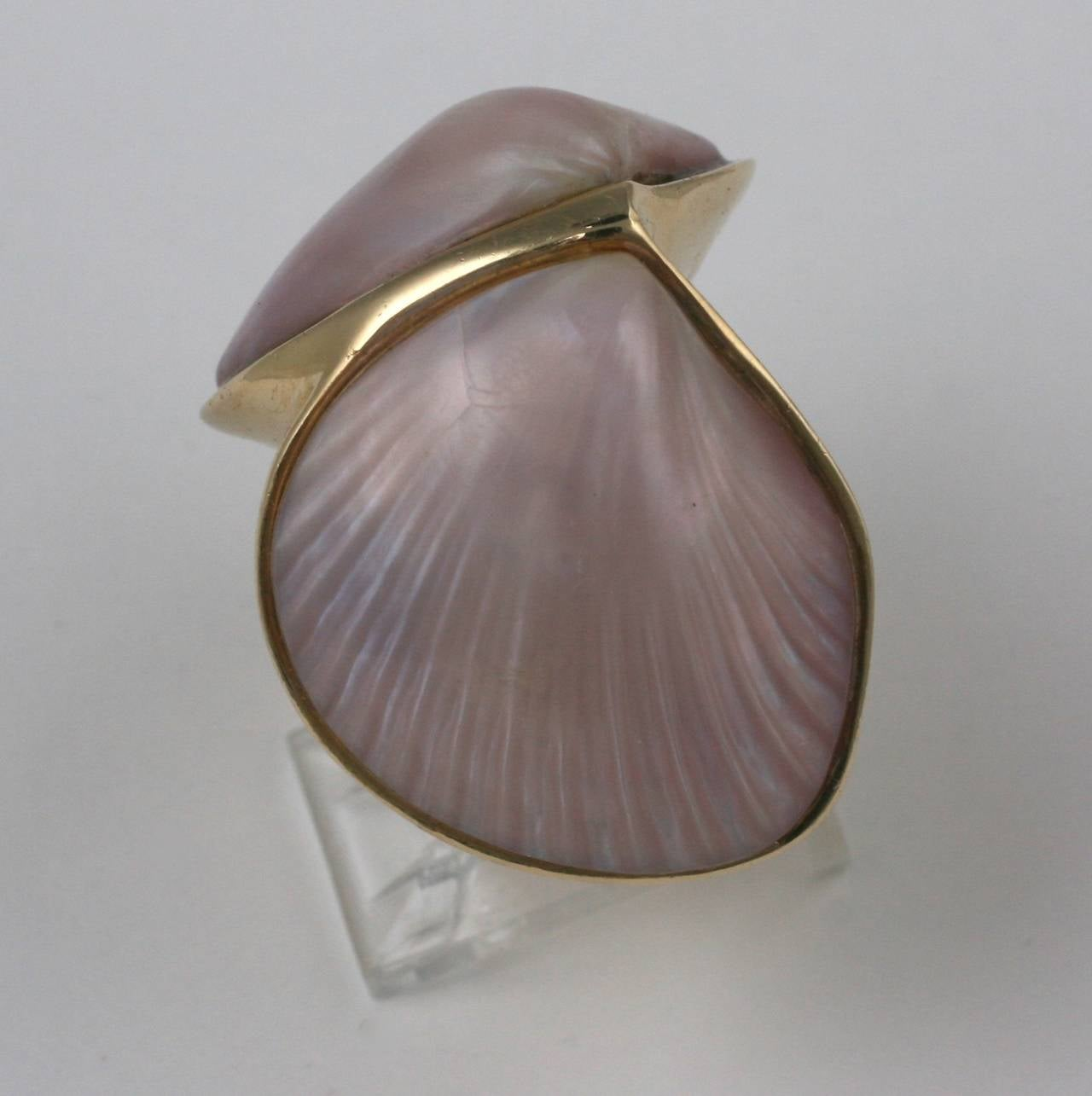 Marguerite Stix Double Shell Ring, Margaretacea In Excellent Condition For Sale In Riverdale, NY