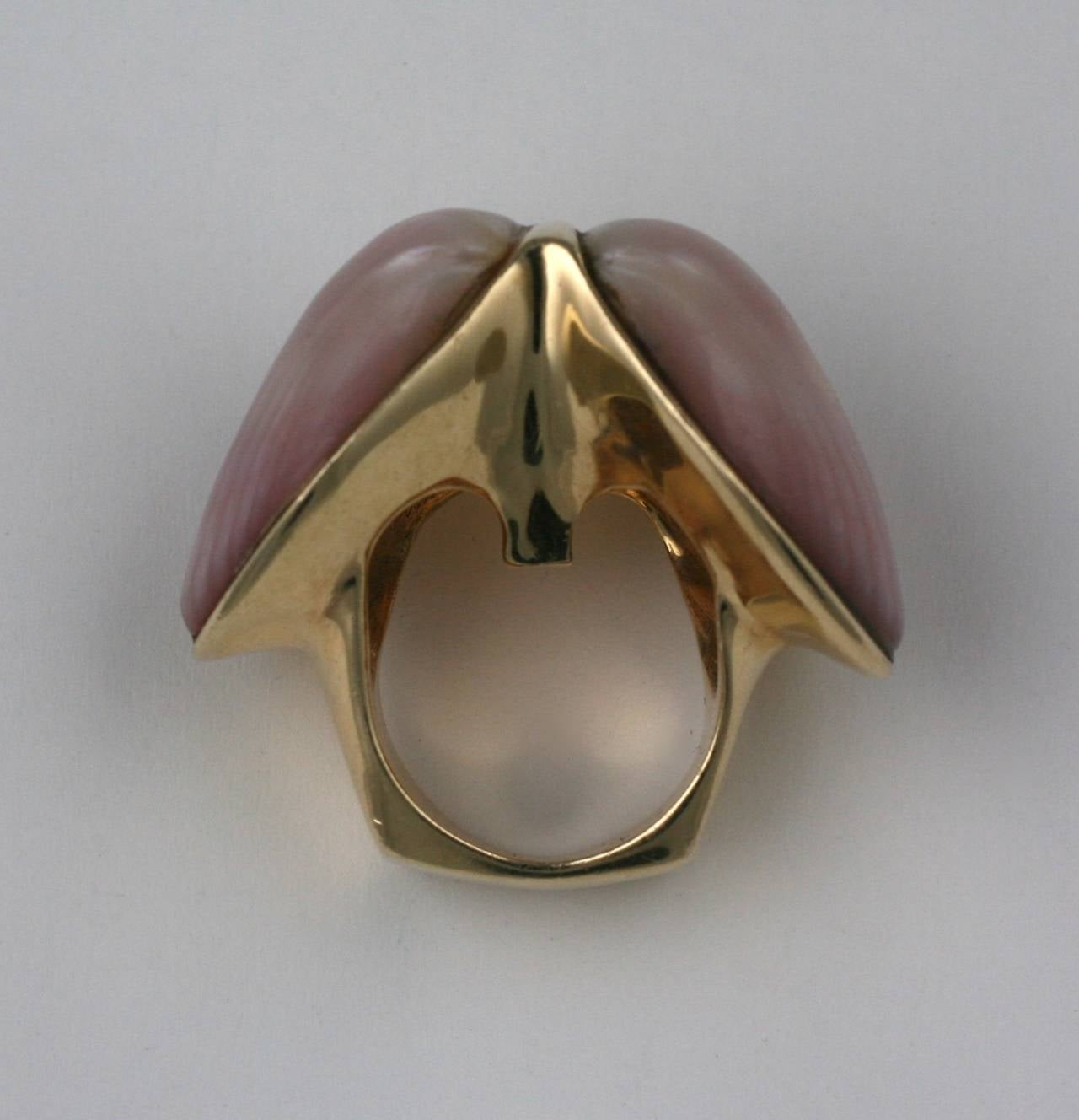 Marguerite Stix Double Shell Ring, Margaretacea For Sale 1
