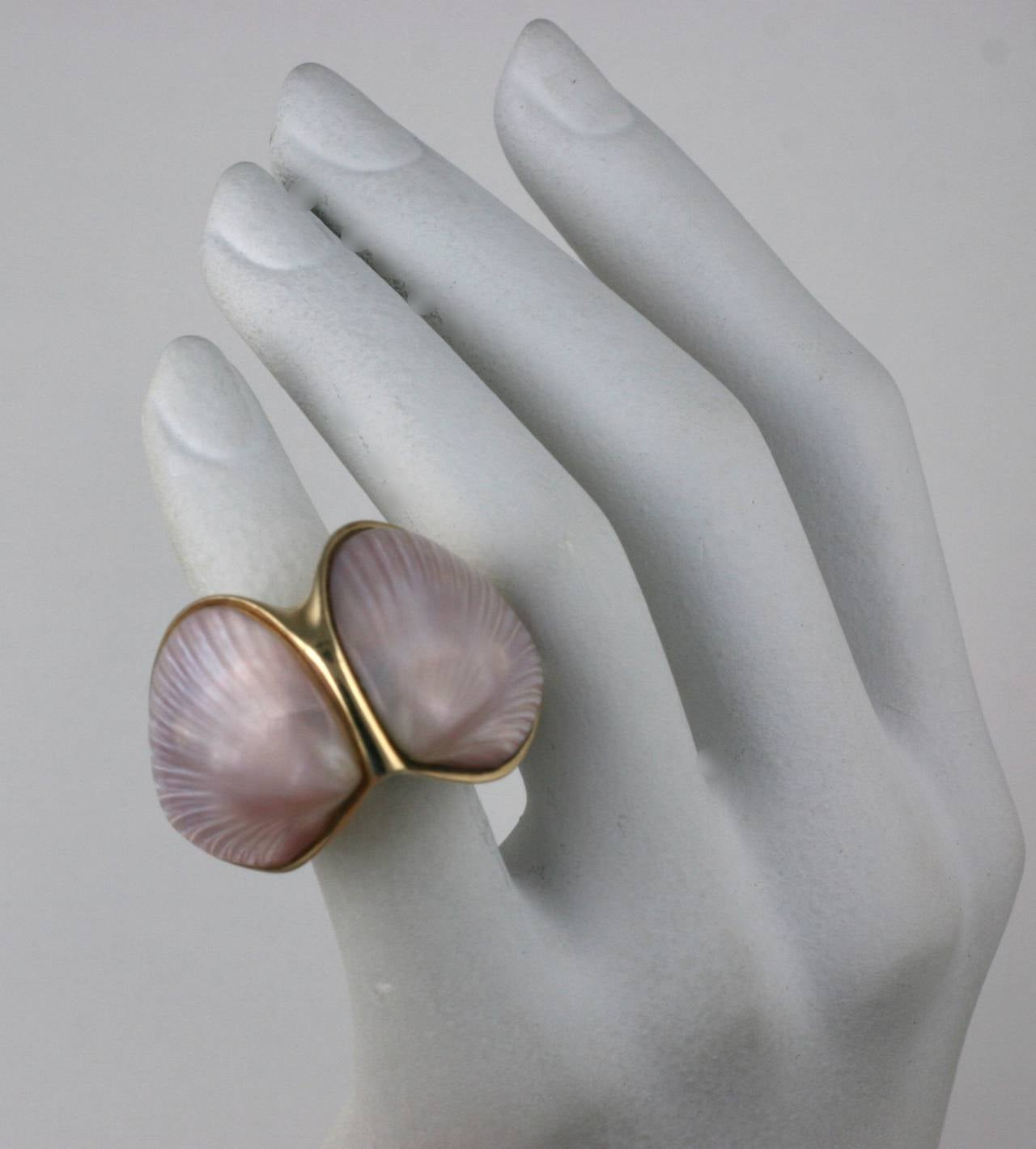 Marguerite Stix Double Shell Ring, Margaretacea For Sale 4