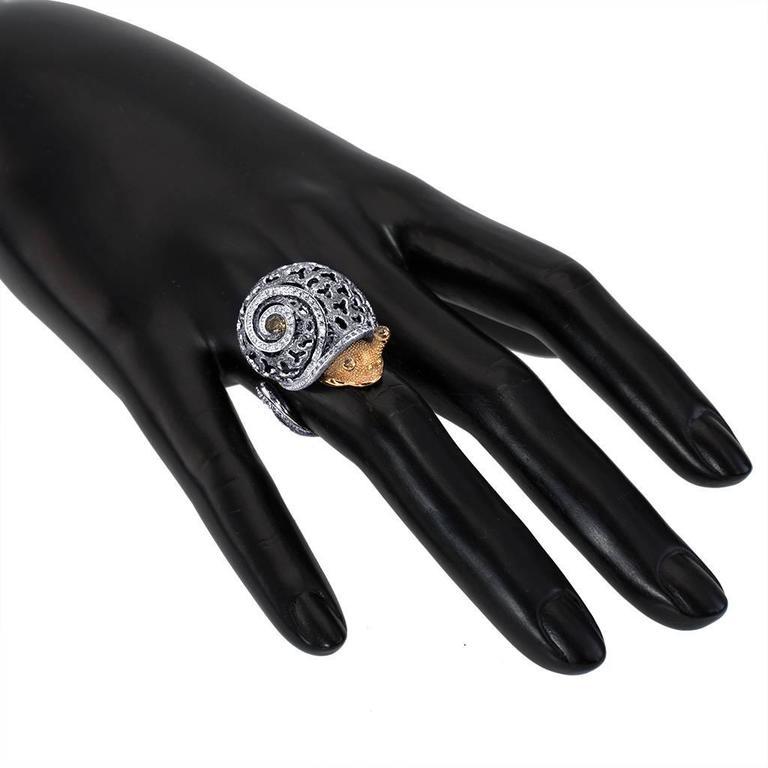Alex Soldier Snail Ring