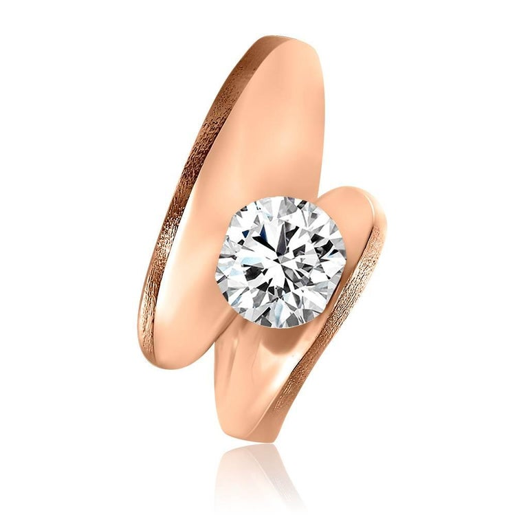 Alex Soldier Dance of Life Diamond Rose Gold Engagement Ring One of a Kind 2