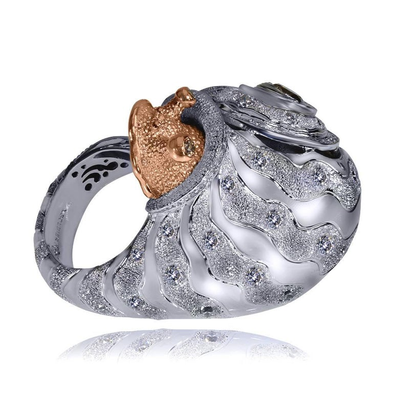 Diamond Gold Codi the Sail Ring One of a kind 6