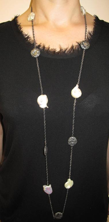 Alex Soldier Coin Pearl Oxidized Silver Necklace Handmade in NYC Limited Edition 2