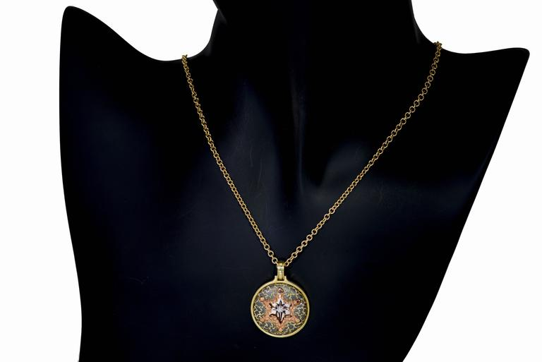 Alex Soldier Diamond Gold Star Pendant Necklace on Gold Chain One of a kind 4