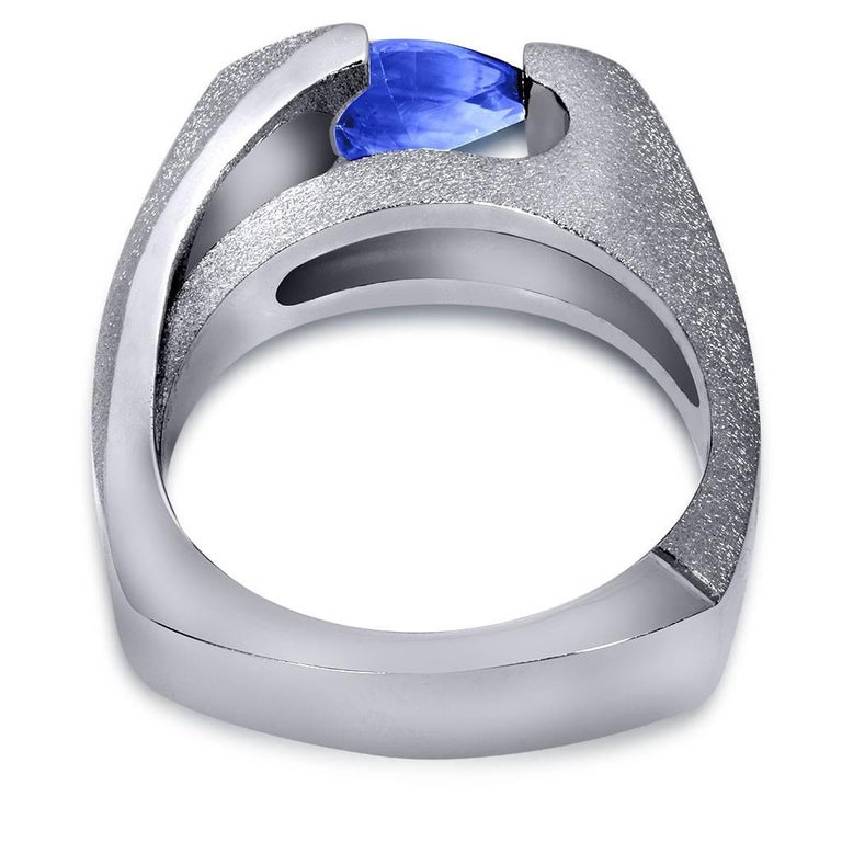 Tanzanite White Gold Engagement Ring One of a Kind 5