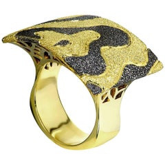 Alex Soldier Gold Textured Cora Ring One of a Kind