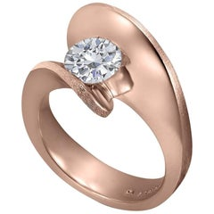 Alex Soldier 1 Carat Diamond Rose Gold Engagement Ring One of a Kind