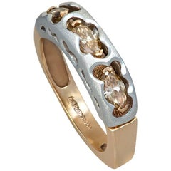 Diamond Gold Ring Band One of a Kind