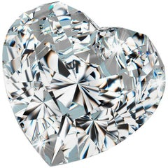 1.08 Carat D Color VVS1 GIA Certified Heart Brilliant Diamond One of a Kind