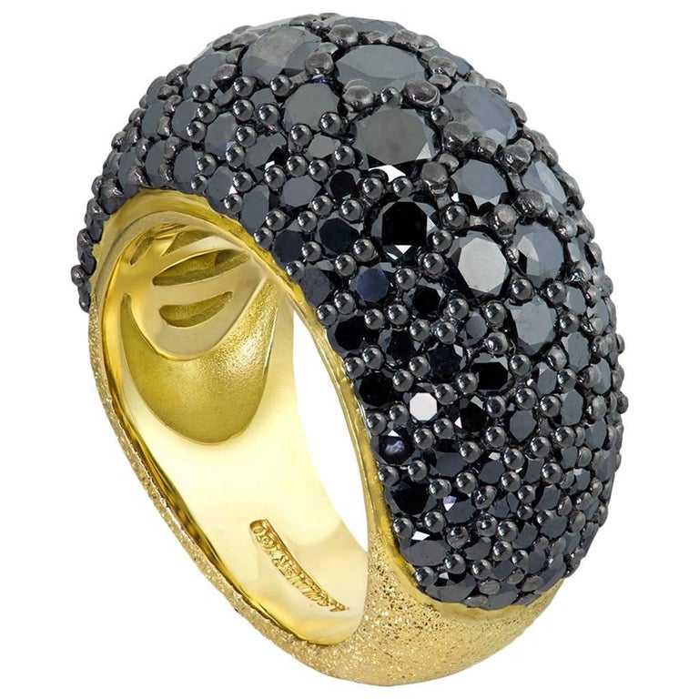 Spinel Gold Textured Ring One of a Kind