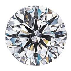 GIA Certified Round Brilliant Diamond 1.11 Carat D Color VVS2 Triple Excellent