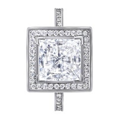 GIA Certified 1 Carat D Color SI1 Clarity Centre Diamond Gold Engagement Ring