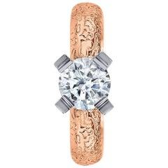 Alex Soldier Princess Diamond Gold Engagement Ring