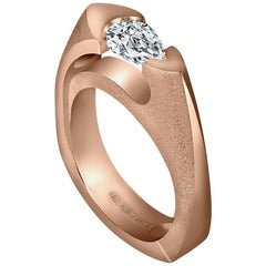 GIA Certified Diamond Rose Gold Passion Ring One of a Kind