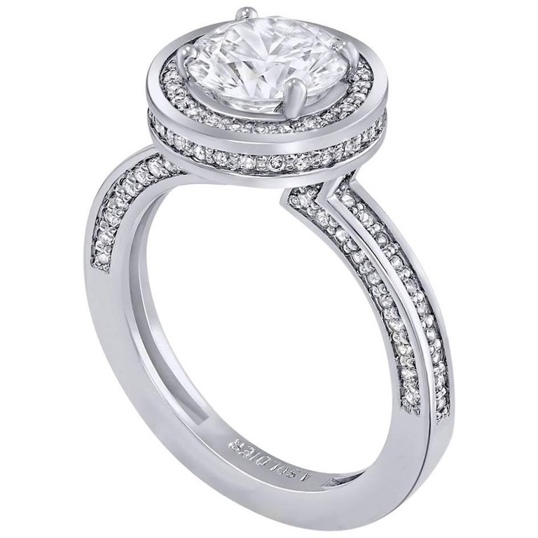 Alex Soldier Eternal Love Diamond Engagement Ring in White Gold One of a Kind