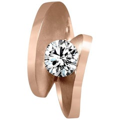 GIA Certified 1.2 Carat D Color Internally Flawless Diamond Gold Engagement Ring