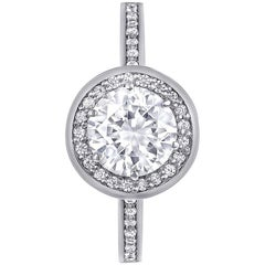 Alex Soldier Diamond Platinum Engagement Wedding Bridal Cocktail Ring