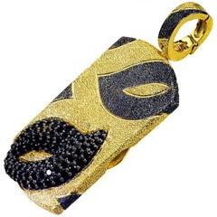 Spinel Sterling Silver Gold Platinum Textured Tag Locket Pendant Necklace