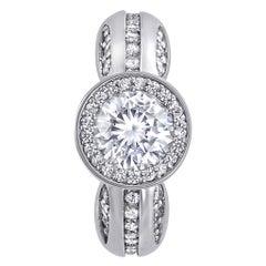 Alex Soldier Modern Sensuality Diamond Platinum Engagement Wedding Cocktail Ring