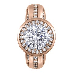 Alex Soldier Modern Sensuality Diamond Halo Hope Engagement Cocktail Ring