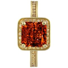Alex Soldier Garnet Gold Engagement Wedding Cocktail Ring One of a Kind