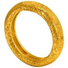 Alex Soldier Textured Gold Band