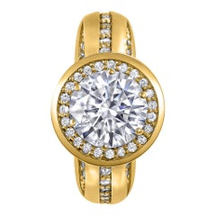 Alex Soldier Modern Sensuality Diamond Halo Hope Engagement Ring